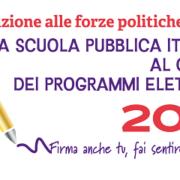 La scuola pubblica italiana al centro dei programmi elettorali