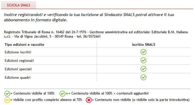 vantaggi iscrizione sul sito snals.it